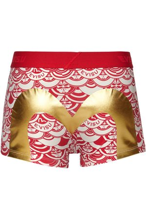 Evisu Men Boxer Shorts - Trunks with Allover Scale-patterned Print