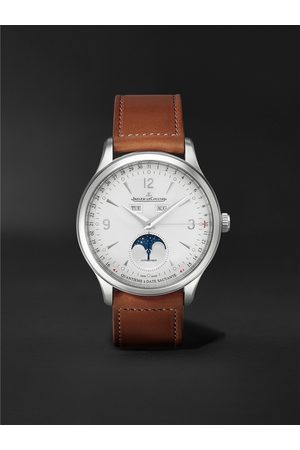 Jaeger-LeCoultre Men Watches - Master Control Calendar Automatic 40mm Stainless Steel and Leather Watch, Ref No. 4148420