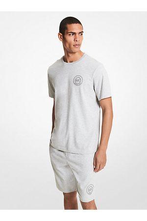 Michael Kors MK Logo Cotton T-Shirt - Heather