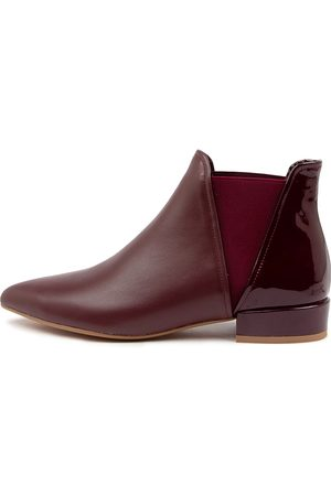DJANGO & JULIETTE Women Ankle Boots - Evelyn Dj Burgundy Boots Womens Shoes Casual Ankle Boots