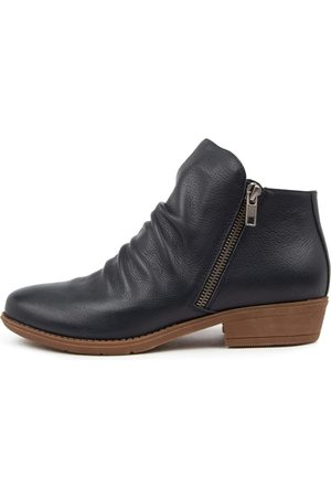 DJANGO & JULIETTE Women Ankle Boots - Rankin New Navy Boots Womens Shoes Casual Ankle Boots