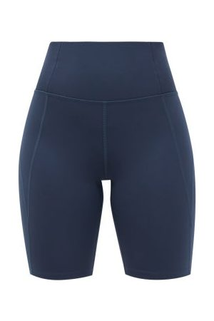 GIRLFRIEND COLLECTIVE High-rise Recycled-fibre Cycling Shorts - Womens - Navy