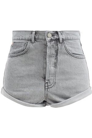 Raey Rivet Cut-off Denim Shorts - Womens - Light