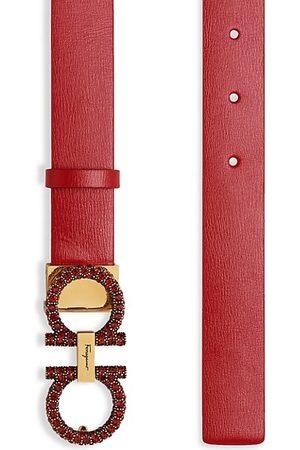 Salvatore Ferragamo Belts - New Gancini Jeweled Buckle Leather Belt