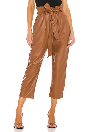 Commando Faux Leather Paperbag Pant in .