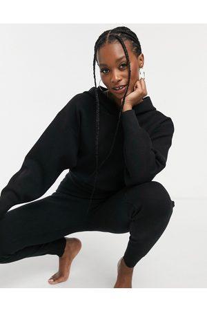 ASOS Mix & match lounge premium knitted hoodie in black