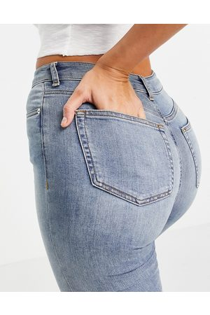 ASOS High-rise ridley 'skinny' jeans in vintage midwash-Blue