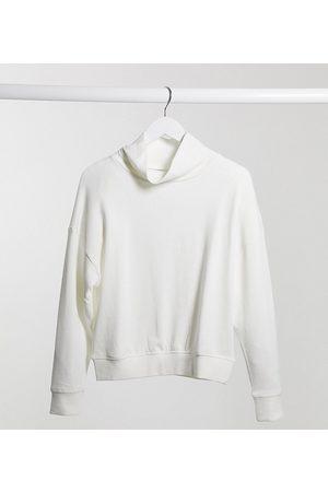 Lindex MOM Karen organic cotton fleece turtleneck lounge sweat in off white