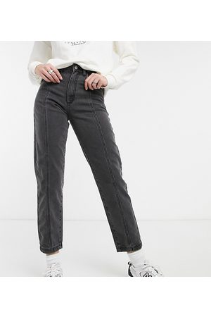 Reclaimed Vintage Inspired the 90s clean straight jean with seam detail in washed black-Blue