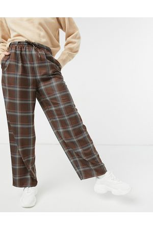 ASOS ASOS DESIN oversized dad trackpant in bold check-Multi