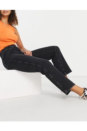 Wrangler Wild west high-rise straight leg jeans in washed black