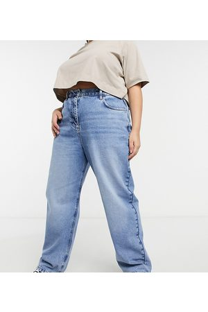 COLLUSION Plus x014 90s baggy dad jeans in blue vintage wash