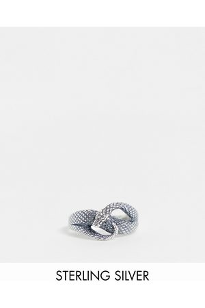ASOS Sterling silver ring with wrap around snake design in silver