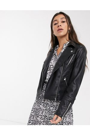 ONLY Faux-leather jacket-Black
