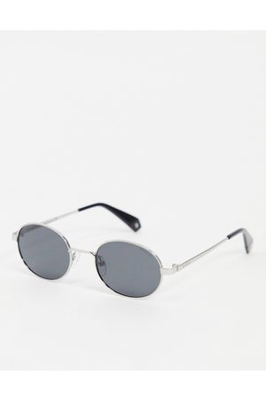 Polaroid Mini round lens unisex sunglasses-Black