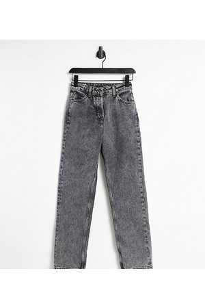 COLLUSION X005 90s straight leg jeans in black acid wash