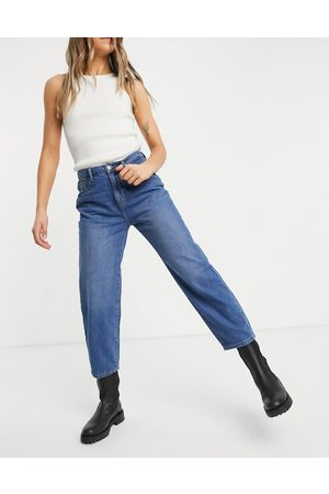 Noisy May Brooke dad jeans in medium blue wash