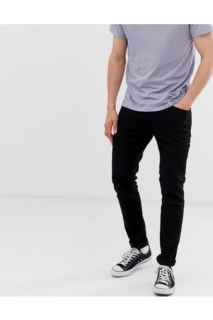 Jack & Jones Intelligence Glenn slim tapered fit jeans in black