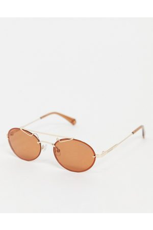 Polaroid Mini lens unisex sunglasses-Gold