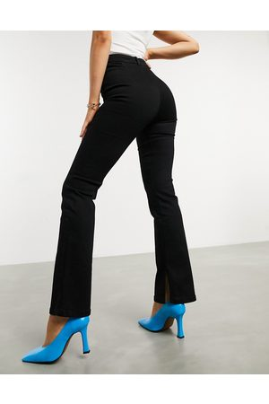 ASOS High-rise 'Y2K' stretch flare jeans in black