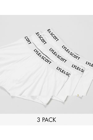 Lyle & Scott 3-pack trunks in white