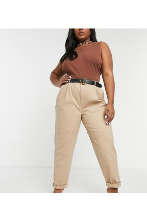 ASOS ASOS DESIGN Curve hourglass chino pants in stone