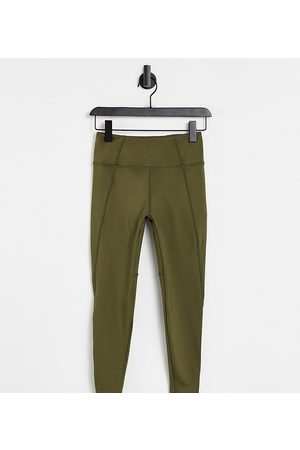 ASOS 4505 Petite icon run tie waist leggings with pocket-Green