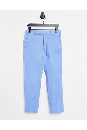 ASOS Skinny ankle grazer smart pants in blue