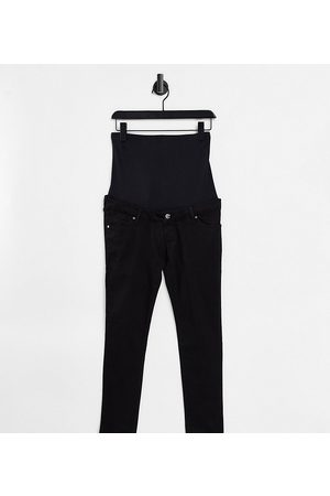 Topshop Over bump Leigh jeans in black