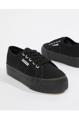 Superga 2790 linea flatform sneakers in black