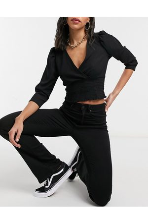 ONLY Royal sweet kick-flare jeans in black