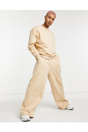 ASOS Tracksuit with oversized sweatshirt and oversized wide-legged trackies-Neutral