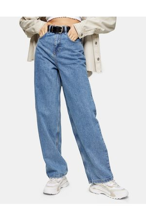 Topshop Relaxed fit jeans in mid wash blue