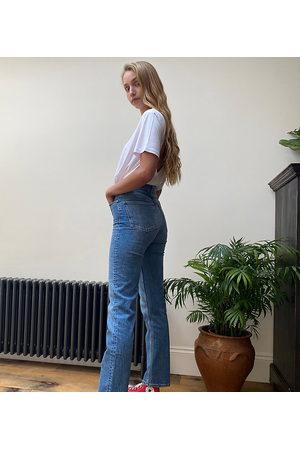 ASOS ASOS DESIGN Tall high-rise stretch 'slim' straight leg jeans in vintage midwash-Blue