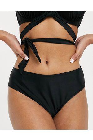 Ivory Rose Fuller Bust mix and match high-waist bikini bottom in black