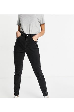ASOS ASOS DESIGN Tall hourglass high-rise farleigh 'slim' mom jeans in washed black