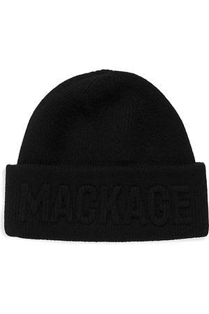 Mackage Short Fleece Logo Beanie