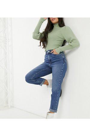New Look Waist enhancing mom jeans in light blue