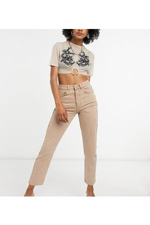 Reclaimed Vintage Inspired the 91' mom jean in sand-Neutral