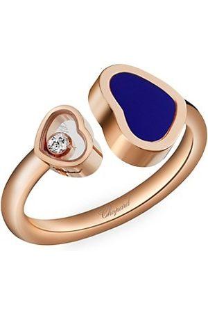 Chopard Happy Hearts 18K , Black Onyx Inlay & Diamond Heart Ring