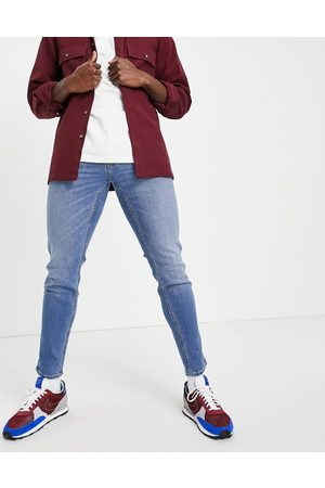 Hollister Skinny - Super skinny fit jeans in bright mid wash-Blue