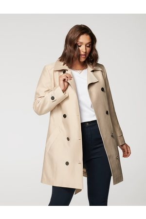 Forever New Dennie Curve Structured Trench Coat