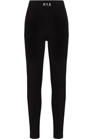 RTA Embroidered logo high-waisted leggings