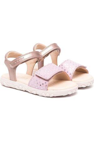 Geox Haiti metallic polka-dot sandals