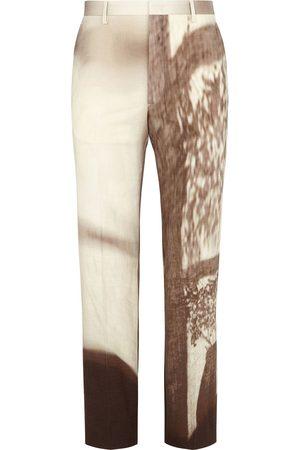 Fendi Men Skinny Pants - Printed slim-fit trousers