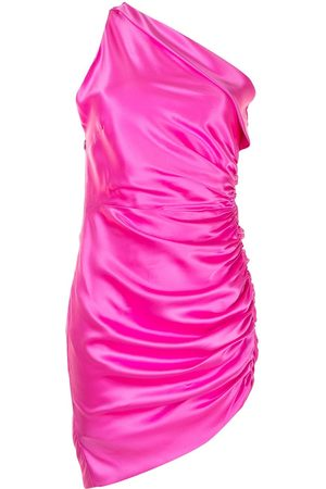 Michelle Mason Asymmetric gathered mini dress