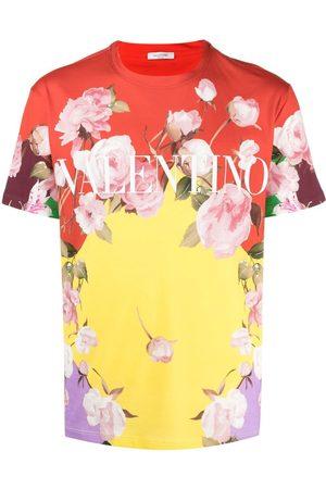 VALENTINO Flying Flowers printed T-shirt