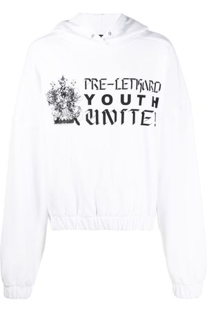 Liberal Youth Ministry Men Sweatshirts - Text-print pullover hoodie