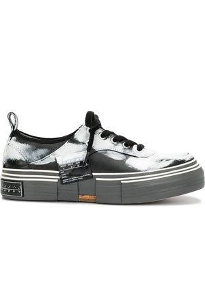 YOHJI YAMAMOTO Paint-print platform sole sneakers