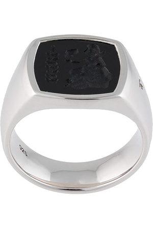 TOM WOOD Sterling Athena cushion onyx ring